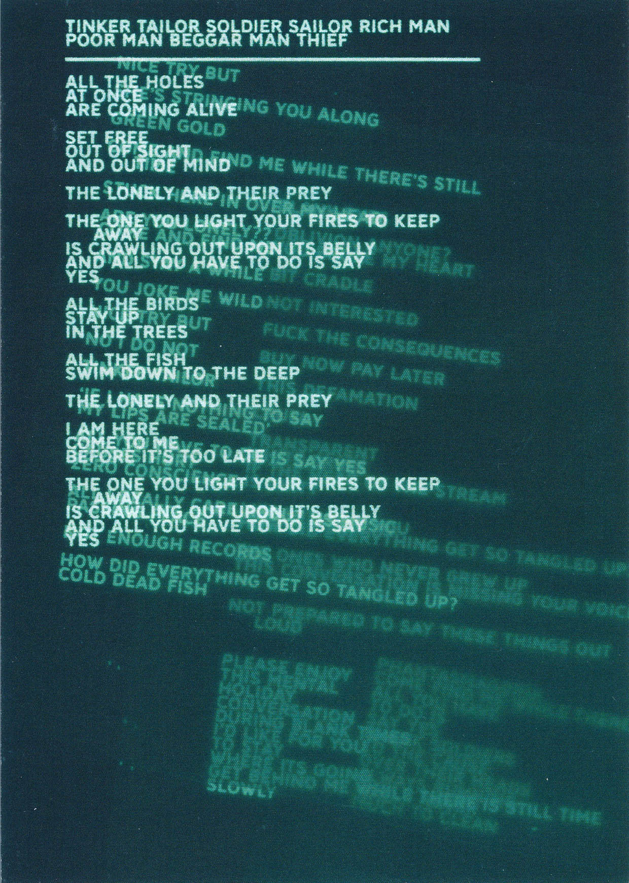 Desert Island Disk Lyrics