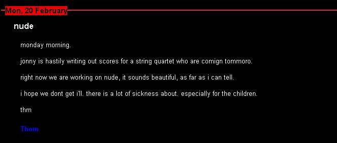 Would like Big ideas nude radiohead