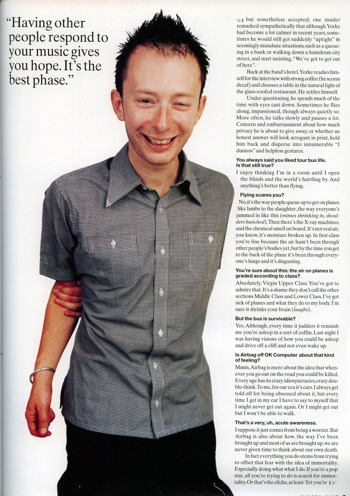 2aba2d4c0 Thom Yorke? Radiohead. Big in America. Little chap. Great singer. Used to  have big hair. Wrote Creep, then found himself singing